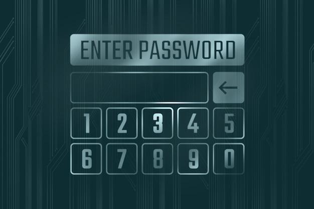 Das feld zur eingabe des passworts