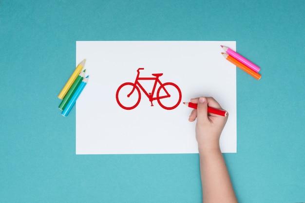 Das foto zum thema radfahren, freizeit, gesunde lebensweise