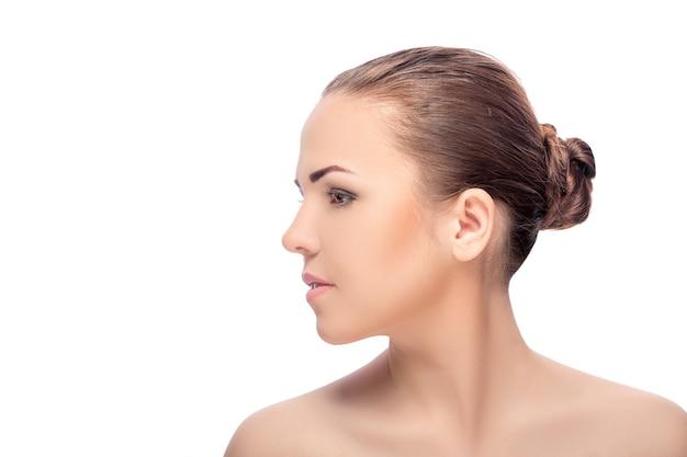 Das gesicht der frau mit make-up