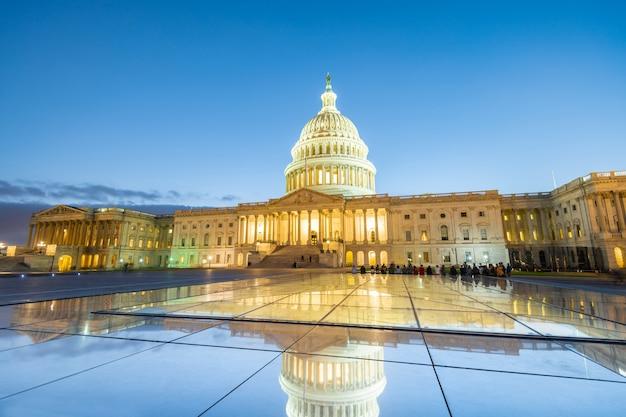 Das kapitol der vereinigten staaten in washington dc, vereinigte staaten von amerika