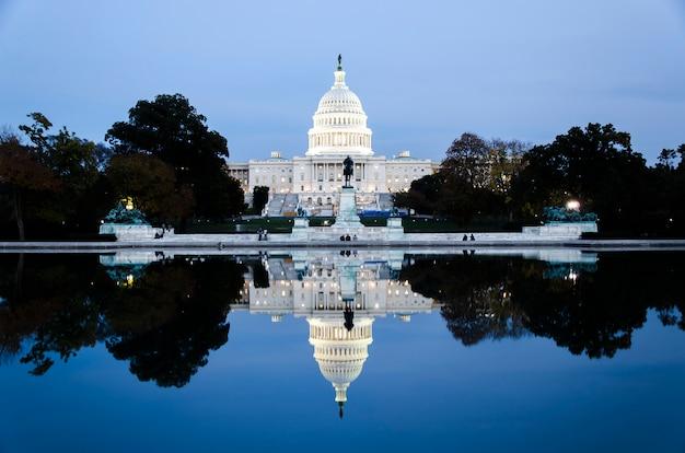 Das kapitolgebäude vereinigter staaten im washington dc, die vereinigten staaten von amerika