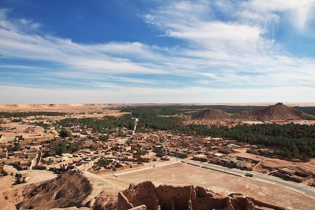 Das kleine dorf in der sahara-wüste, algerien