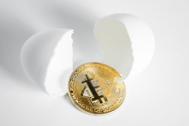 Das konzept der entstehung oder entdeckung von bitcoin
