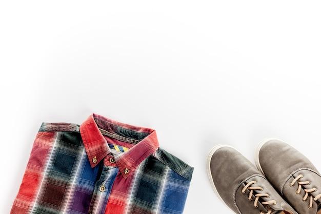 Das konzept der herrenbekleidung und accessoires