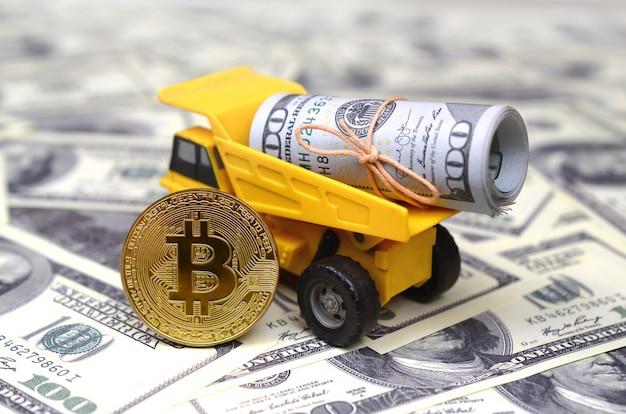 Das konzept der hohen bitcoin-preise gegenüber dem us-dollar