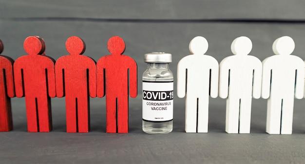 Das konzept der menschen wird nach der impfung geschützt