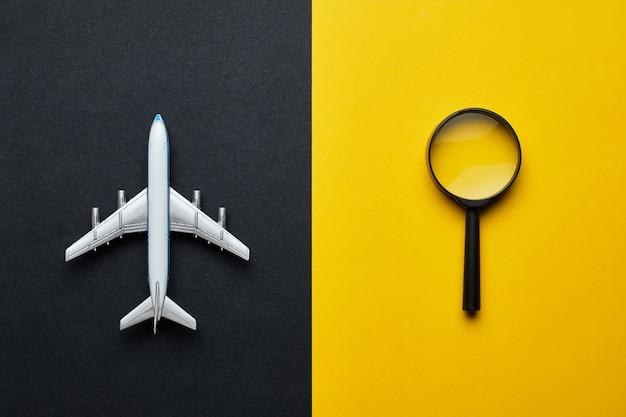Das konzept der suche nach einem ticket für internationale flüge