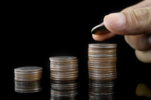 Das konzept des sparens, für den erfolg investieren