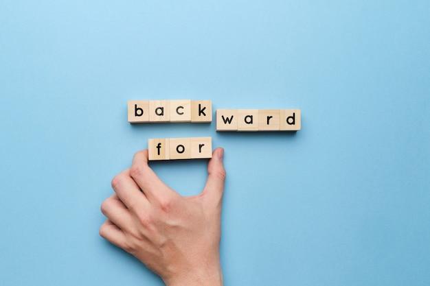 Das konzept einer motivierenden entscheidung ist eher vorwärts als rückwärts.