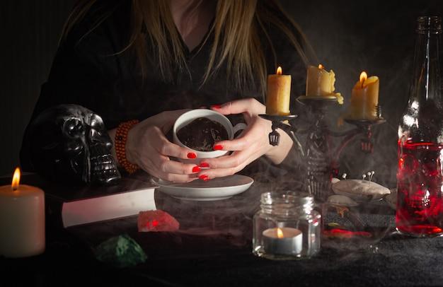 Das konzept von zauberern, hexerei und magie