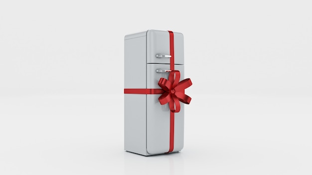 Das kühlschrankkonzept reduziert 3d-rendering