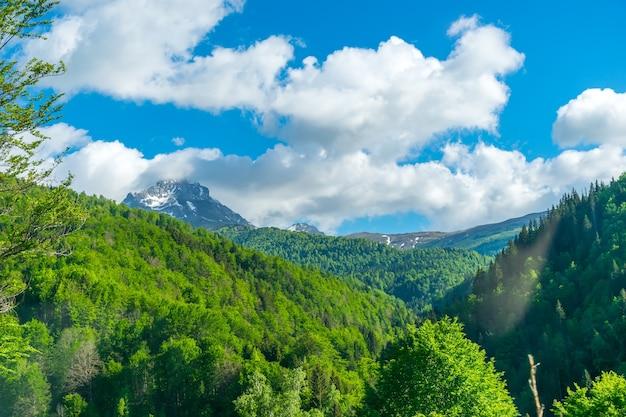 Das malerische komovi-gebirge liegt im osten montenegros.
