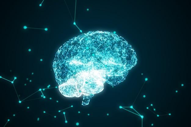 Das menschliche gehirn wird von partikeln gebildet