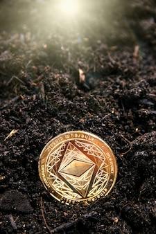Das mining der kryptowährung ethereum lässt sie tiefer in die erde graben.