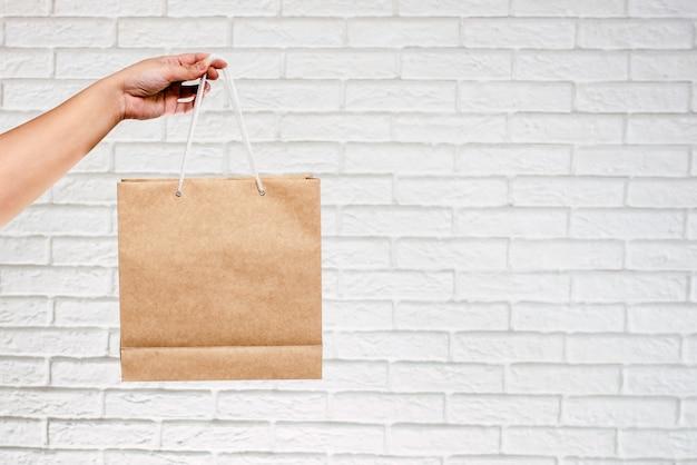 Das modell der reinen taschen für einkäufe