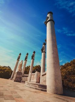 Das monument a los niños heroes, offiziell altar a la patria (altar der heimat) in mexiko-stadt