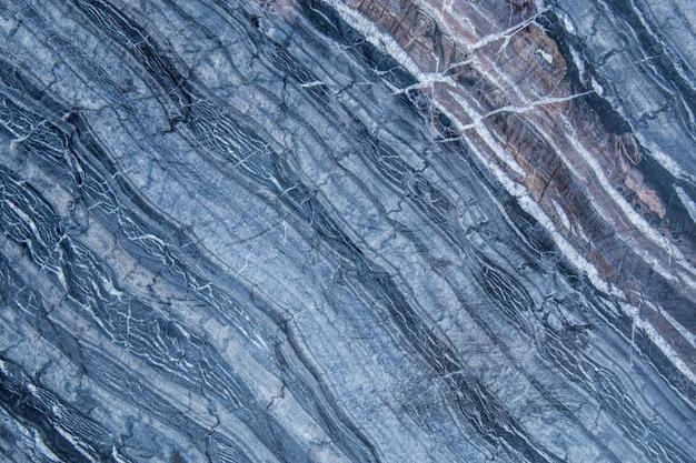Das muster und die oberfläche der blauen, weißen und schwarzen marmorwände