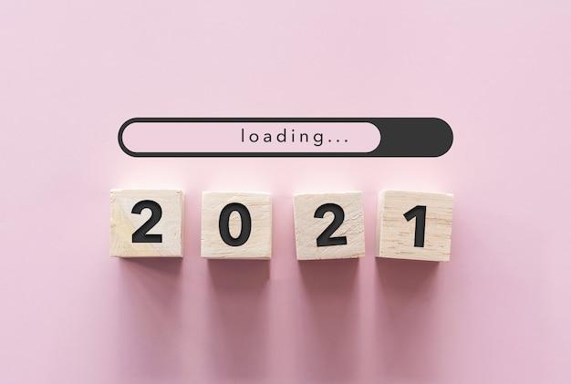 Das neue jahr 2021 kommt mit einem kreativen ideenkonzept.