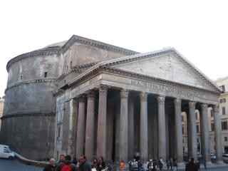 Das pantheon in rom italien