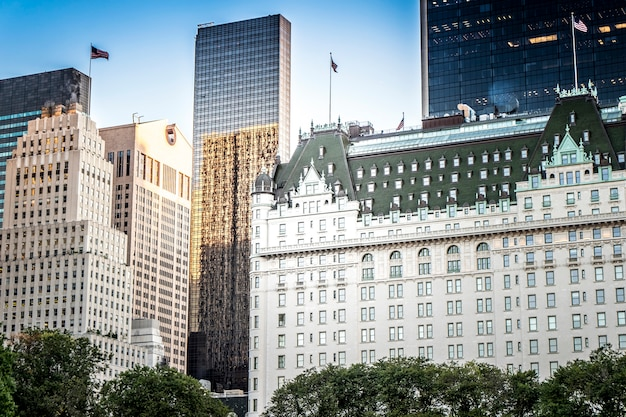 Das plaza hotel in new york, usa