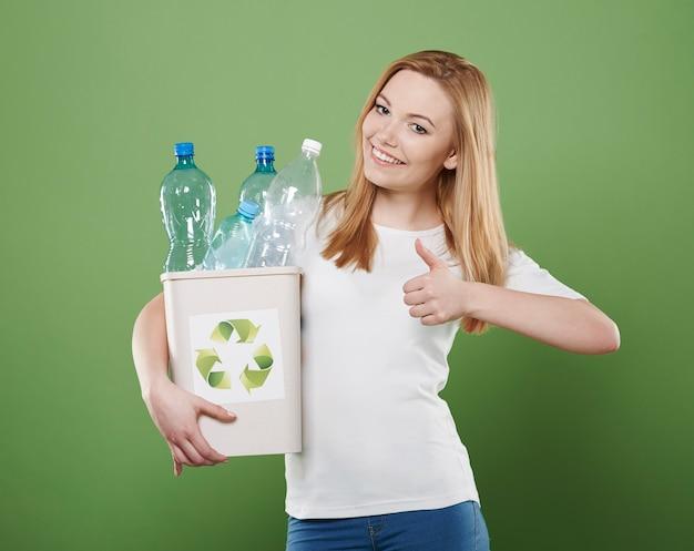 Das recycling ist ein schritt für eine große zukunft