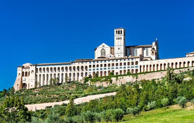 Das sacro convento, ein franziskanerkloster in assisi.