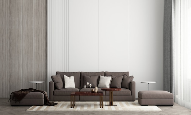 Das schlafzimmer und die backsteinmauerbeschaffenheitshintergrundinnenarchitektur