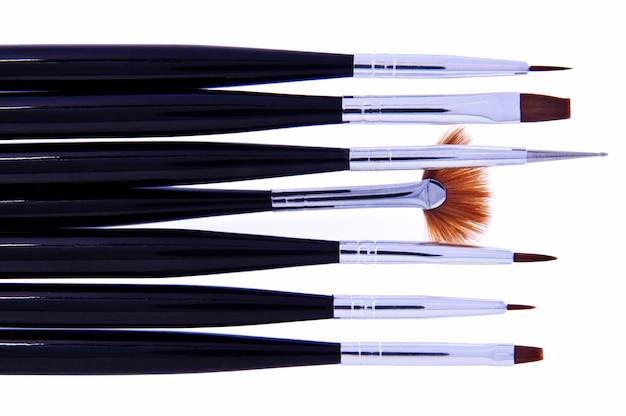 Das set aus make-up-pinseln