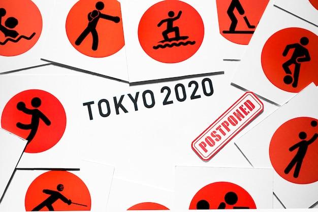 Das sportereignis 2020 hat die komposition verschoben