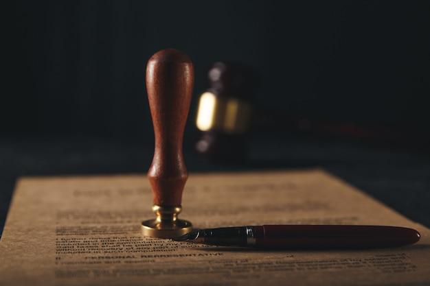 Das testament und das testament sind bereit zu unterschreiben