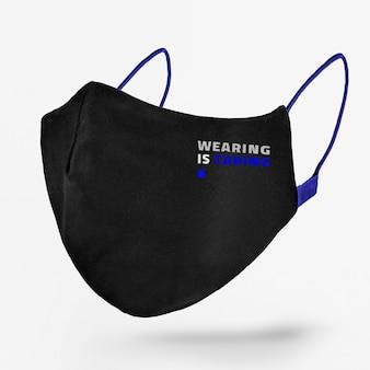 Das tragen kümmert sich um die schwarze gesichtsmaske
