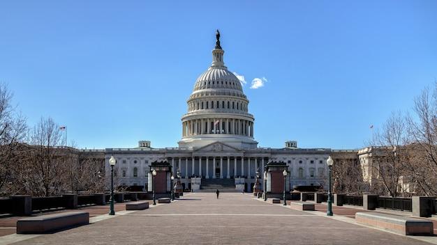 Das united states capitol building auf dem capitol hill in washington dc usa