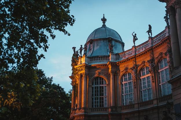 Das vajdahunyad-schloss, budapest-hauptstadtpark