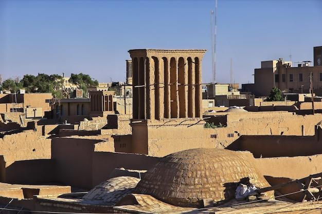 Das vinatge-gebäude in der antiken stadt yazd iran