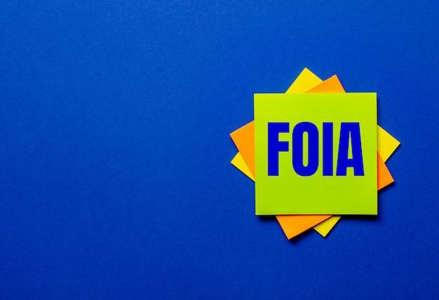 Das wort foia das gesetz über die informationsfreiheit