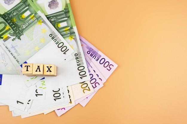 Das wort steuer und die währung der europäischen union