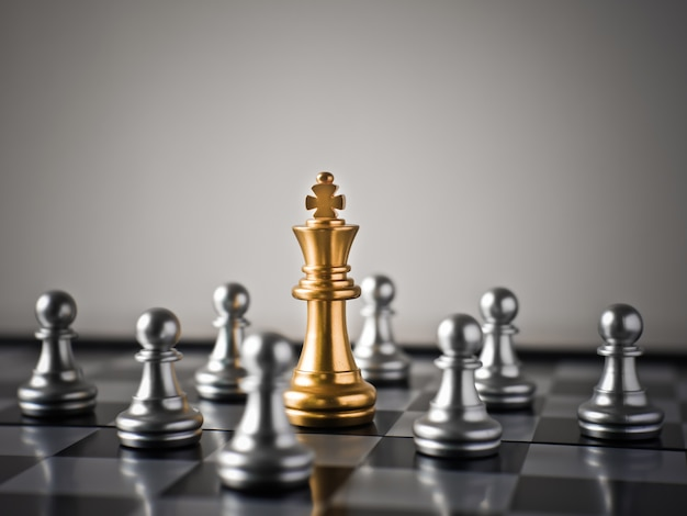 Das ziel, das geschäftsspiel mit schach zu machen