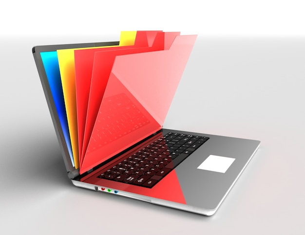 Datei in datenbank - laptop und ordner