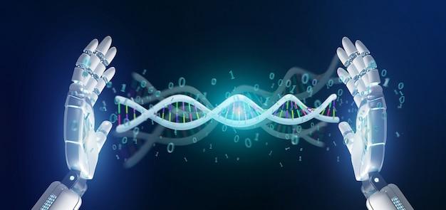 Daten codierten dna mit binärer datei um wiedergabe 3d