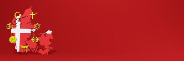 Daten zur verbreitung der religion und vielfalt des pluralismus in dänemark für website-cover