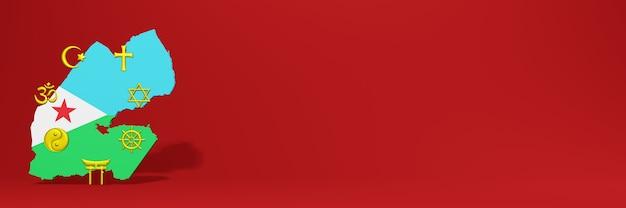 Daten zur verbreitung der religion und vielfalt des pluralismus in dschibuti für website-cover