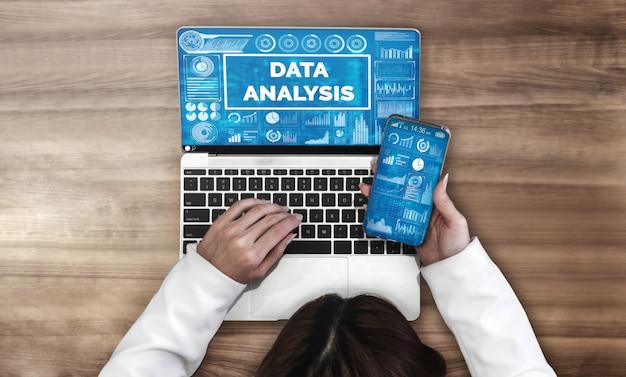 Datenanalyse für business und finanzen hintergrund