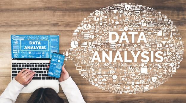 Datenanalyse für das geschäfts- und finanzkonzept.