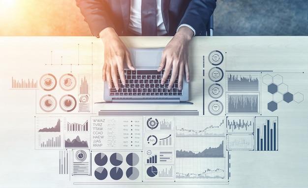 Datenanalyse für das geschäfts- und finanzkonzept
