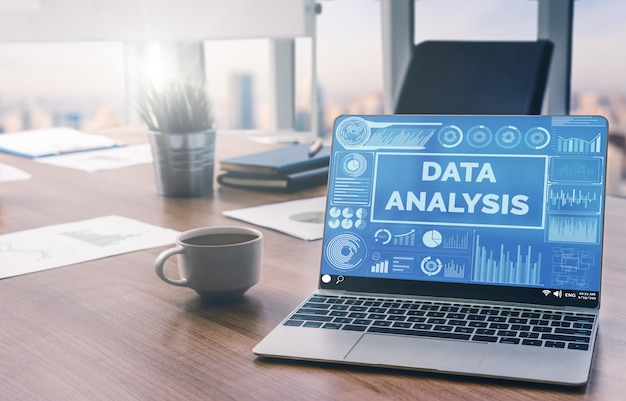 Datenanalyse für geschäfts- und finanzkonzept