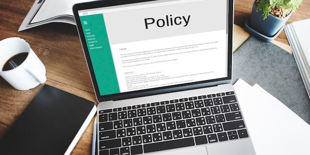 Datenschutzrichtlinie informationen prinzip strategie regelkonzept