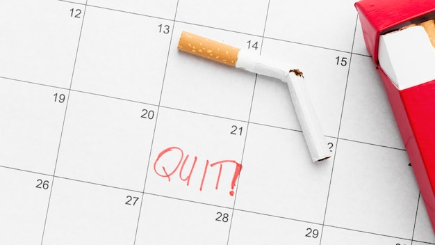 Datum der raucherentwöhnung