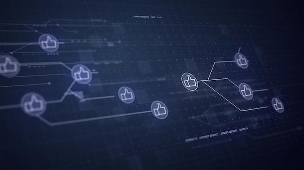 Daumen nach oben netzwerk leiterplattenverbindung verbindungstechnik