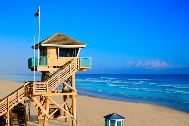 Daytona beach in florida baywatch-turm usa