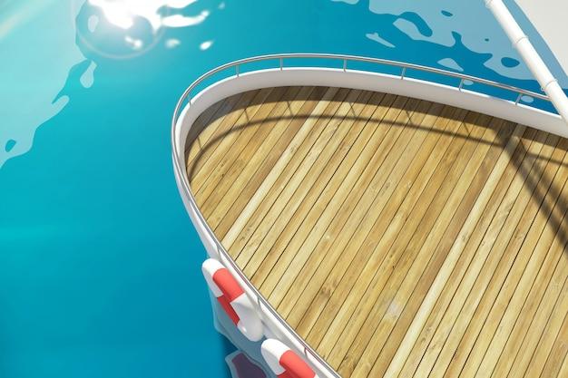 Deck der yacht am pier